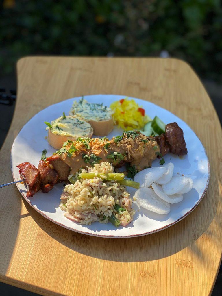 Recept voor saté van varkenshaas van Foodblog Foodinista