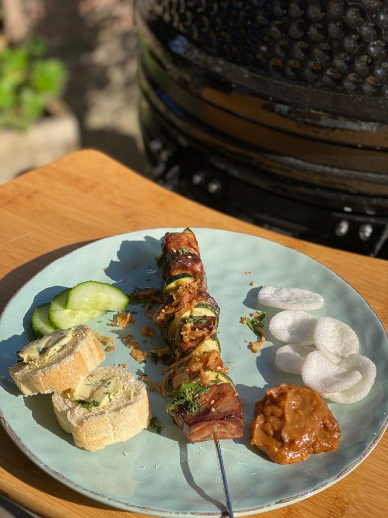 Zalm teriyaki spies van de barbecue - Vis barbecuerecept - Recept van Foodblog Foodinista