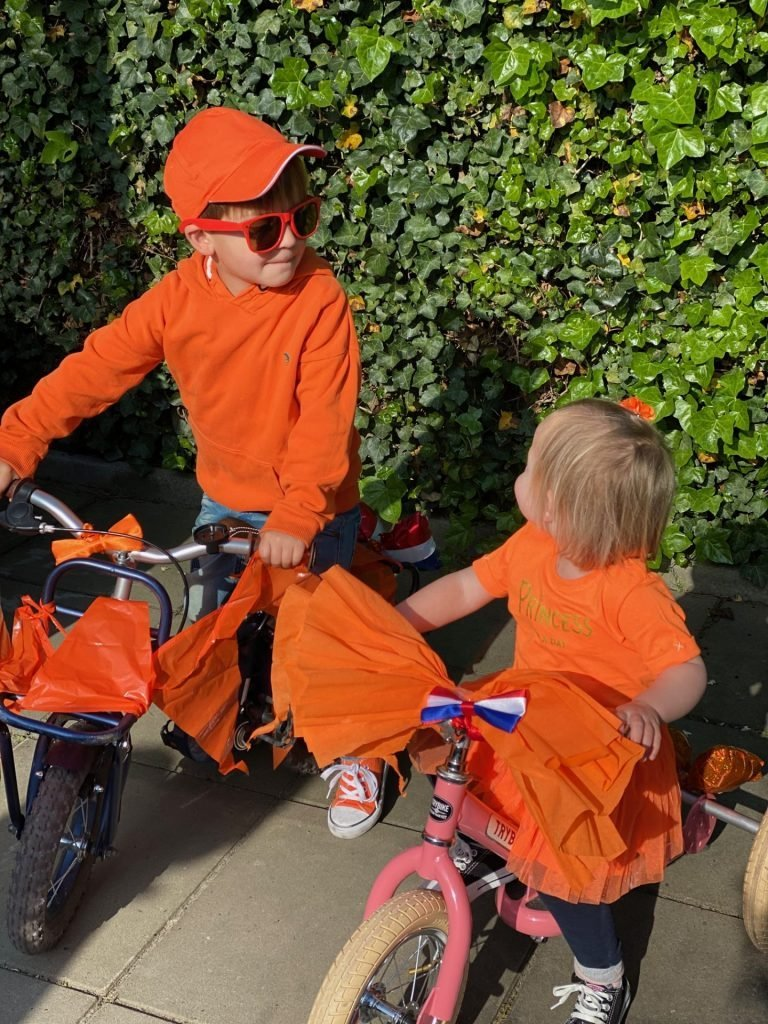 Koningsdag met Oranje fietsjes