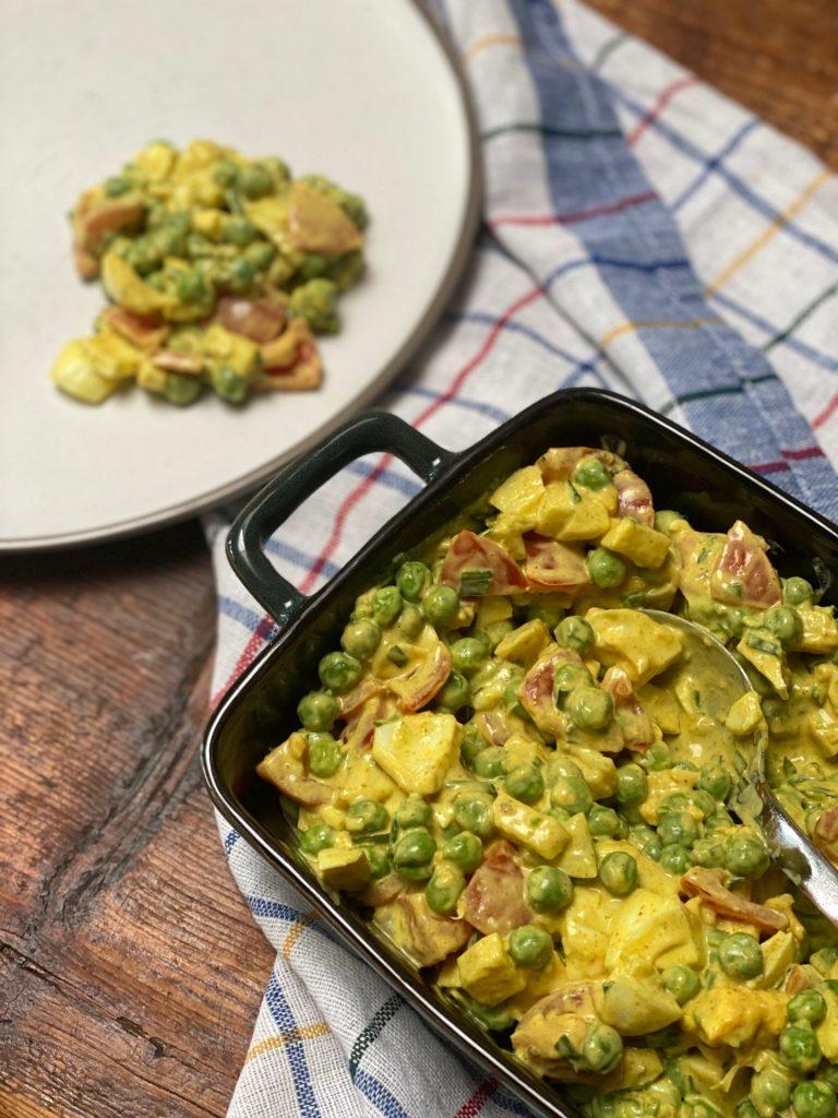 Vegetarische kerrie aardappelsalade recept van Foodblog Foodinista