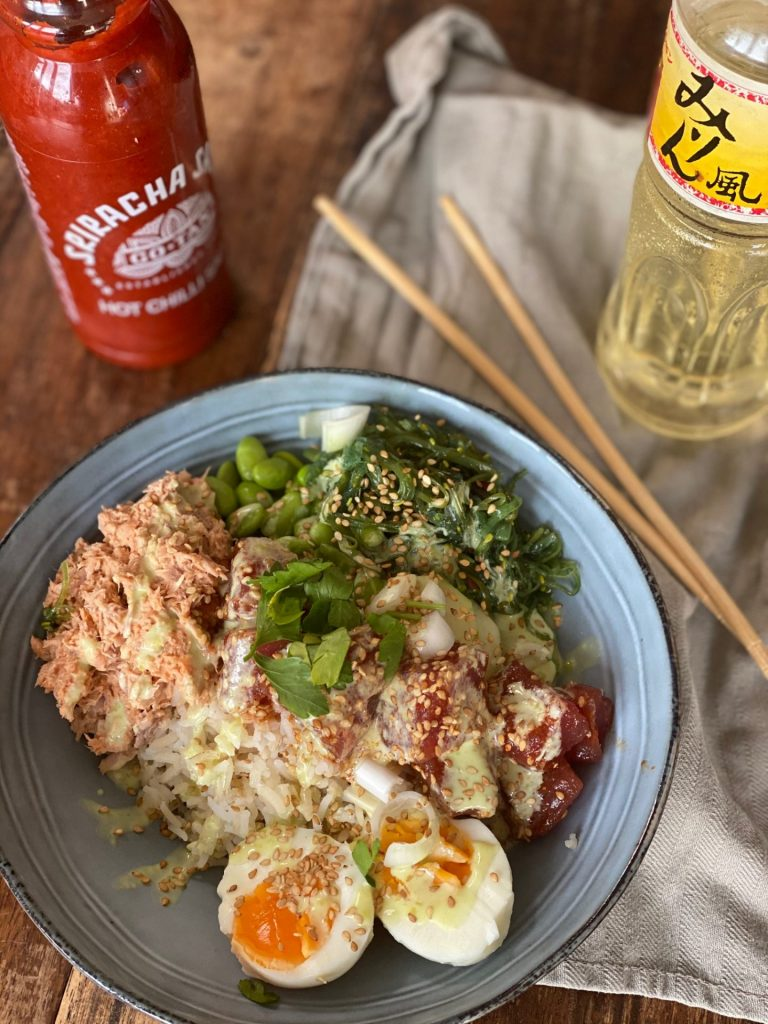Recept Pittige tonijn poke bowl - Spicy tuna recept - Foodblog Foodinista
