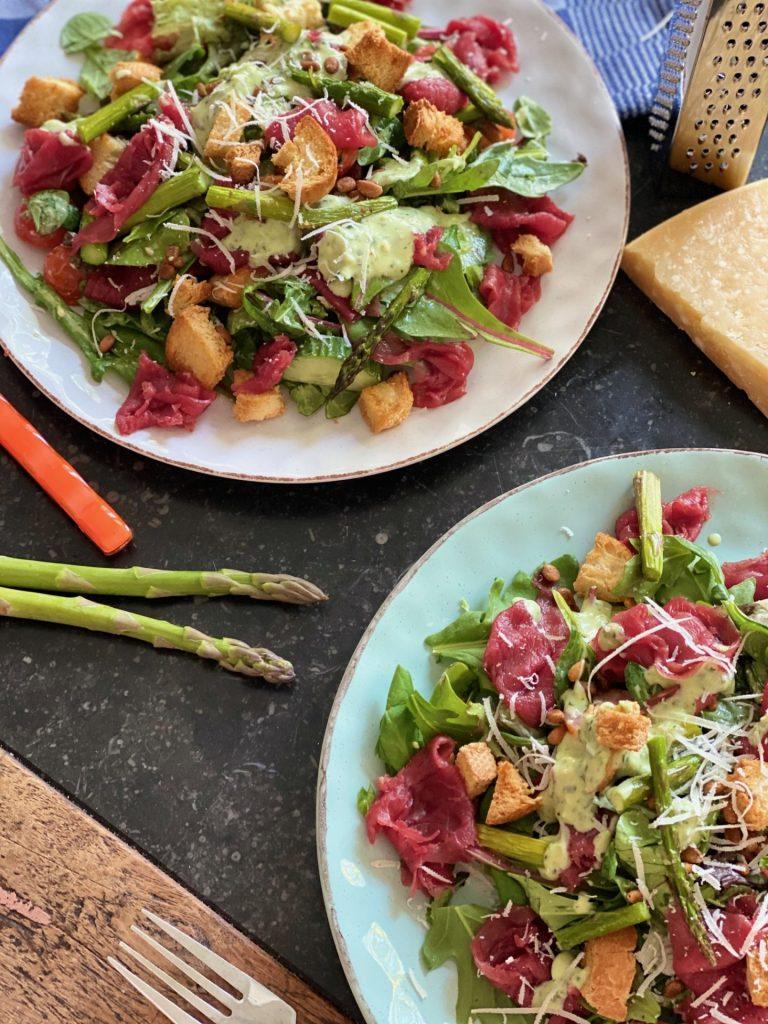 Salade met Carpaccio maken - Carapaccio recept van Foodblog Foodinista