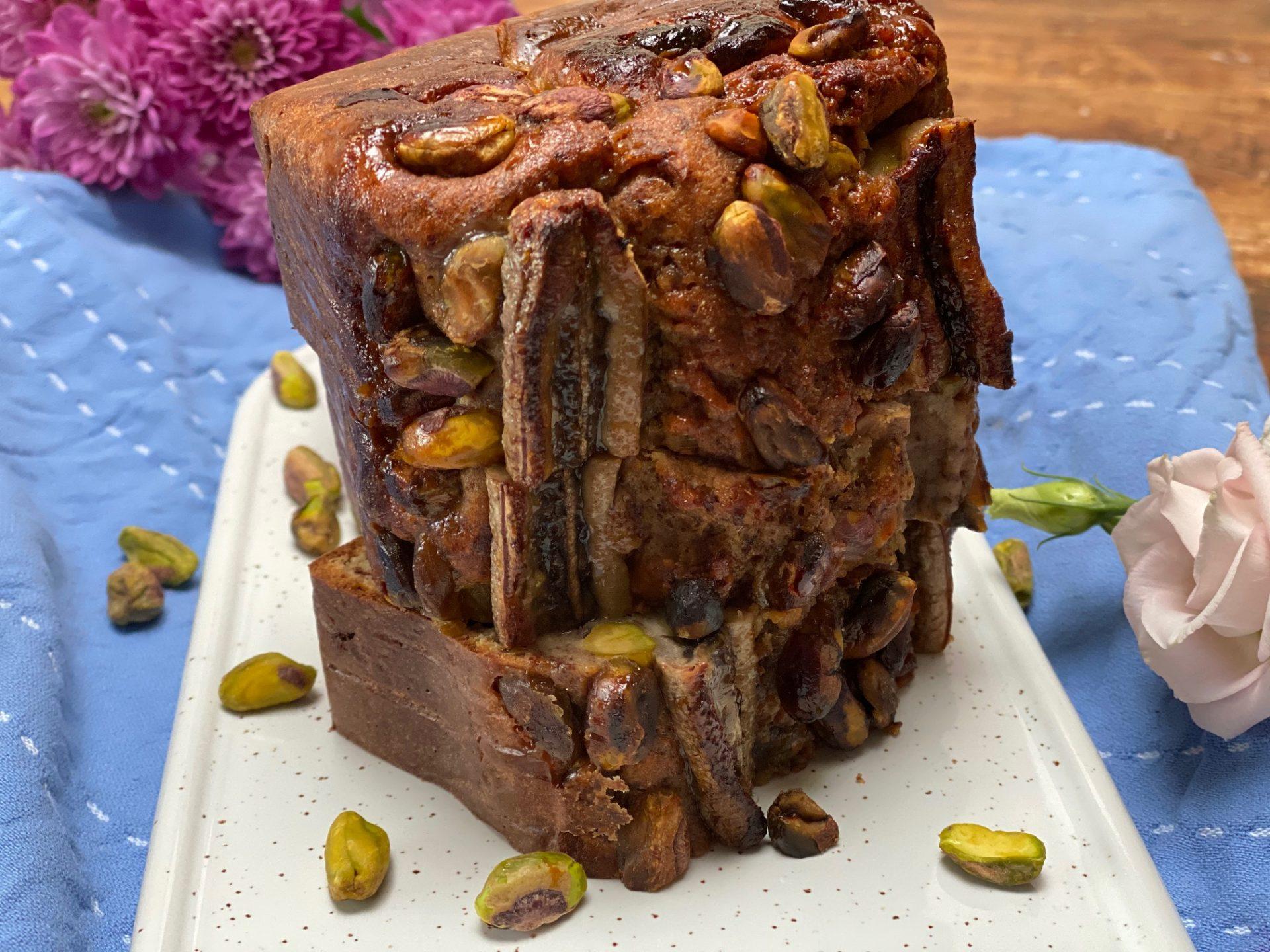 Bananenbrood recept met chocolade en pistachenootjes - Foodblog Foodinista