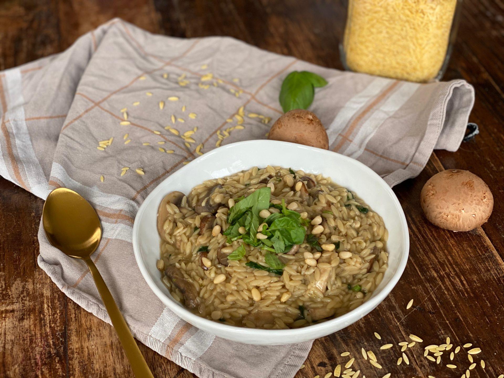 Italiaanse orzo met champignons en bospaddenstoelen - Foodblog Foodinista