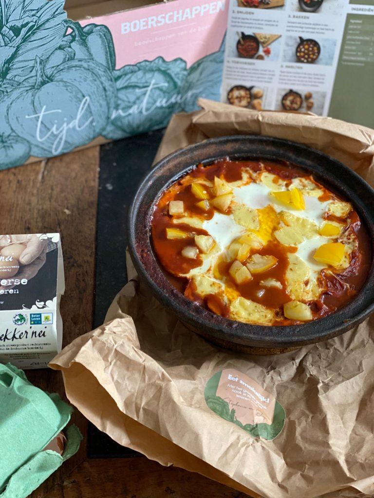 Verrassende shakshuka uit de oven - Koken met de Boerschappen Gemaksbox