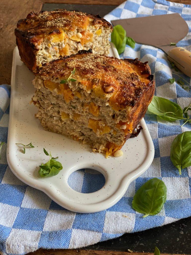 Recept gehaktbrood met kipgehakt en pompoen - Foodblog Foodinista