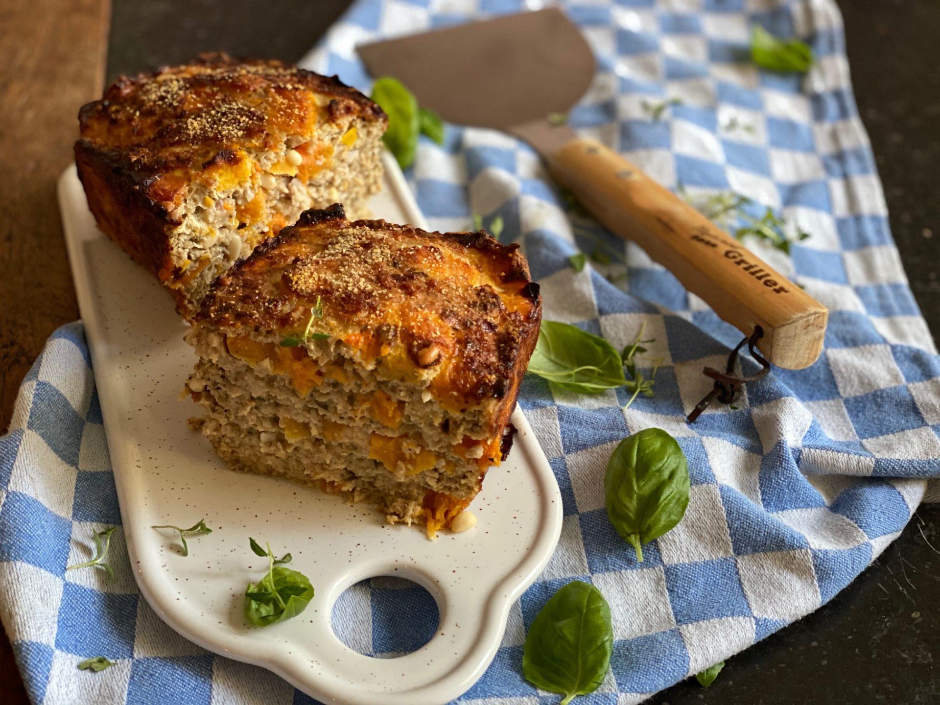 Herfst gehaktbrood recept met kipgehakt en pompoen - Foodblog Foodinista