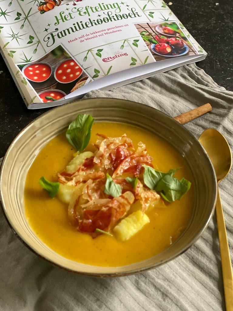 Efteling Kookboek Recept -Pompoensoep met Gnocchi en Pancetta -  Tips van Foodblog Foodinista