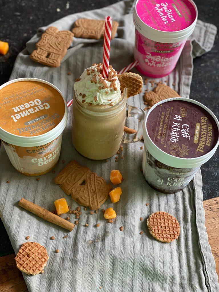 Pumpkin Spice Ice Latte recept met vegan ijs
