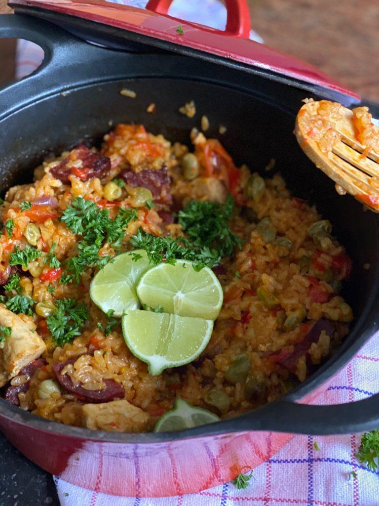 Paella uit de oven met kip en Iberico worst - Foodblog Foodinista