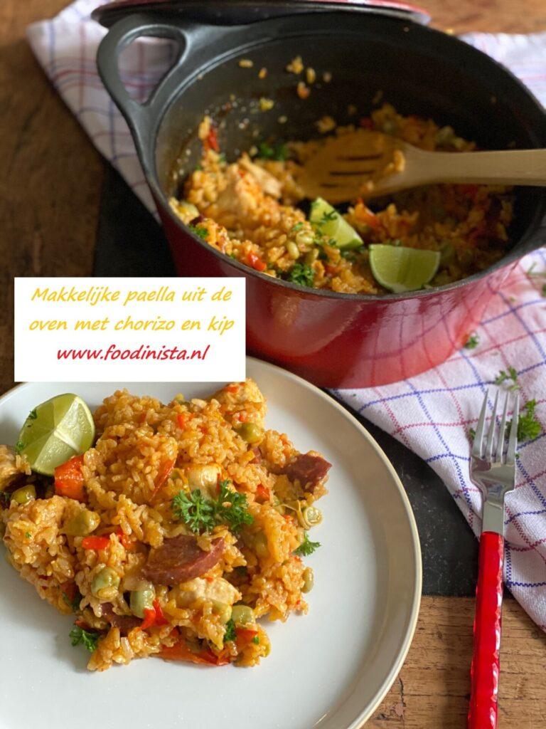Paella uit de oven met kip en Iberico worst