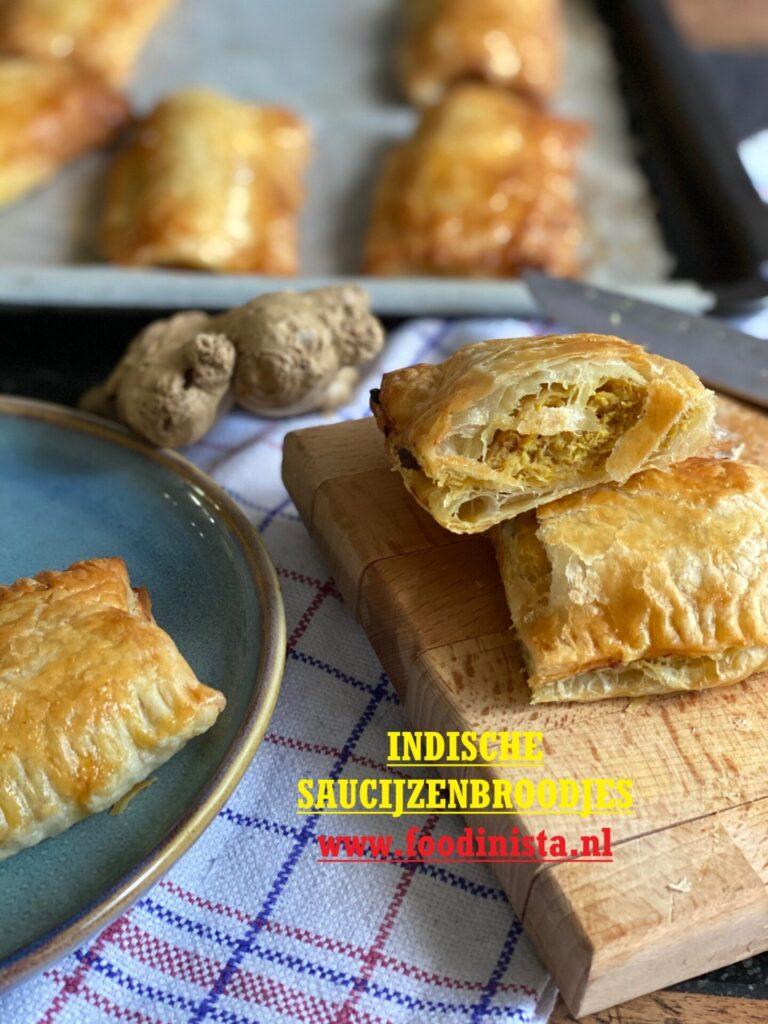 Indische Saucijzenbroodjes met kipgehakt en pittig gekruid - Foodblog Foodinista