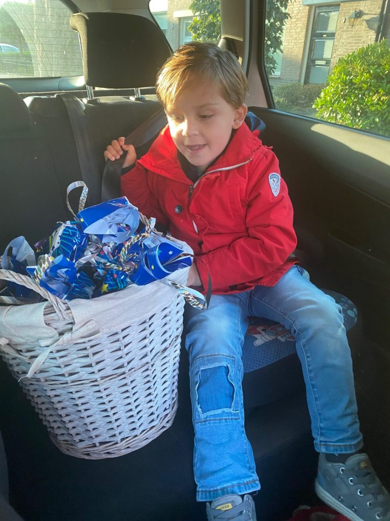 Florian trakteren op school! Hieperdepiep
