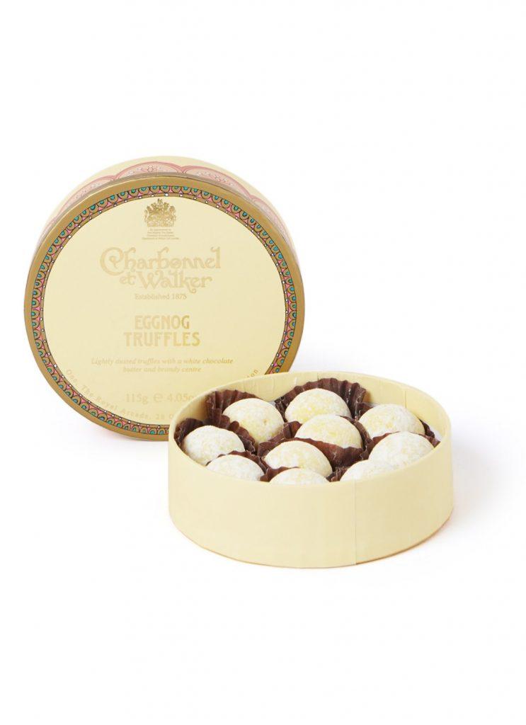 Eggnog chocolade truffels - Luxe chocolade cadeau tips voor de feestdagen - Foodinista