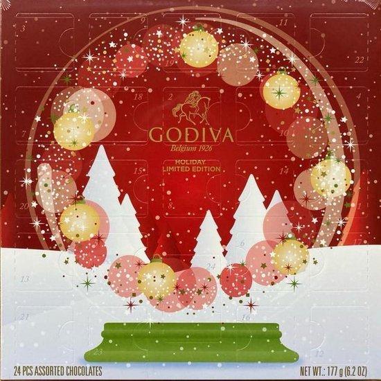 Godiva Adventskalender - Chocolade cadeautjes voor de feestdagen - TIps van Foodinista