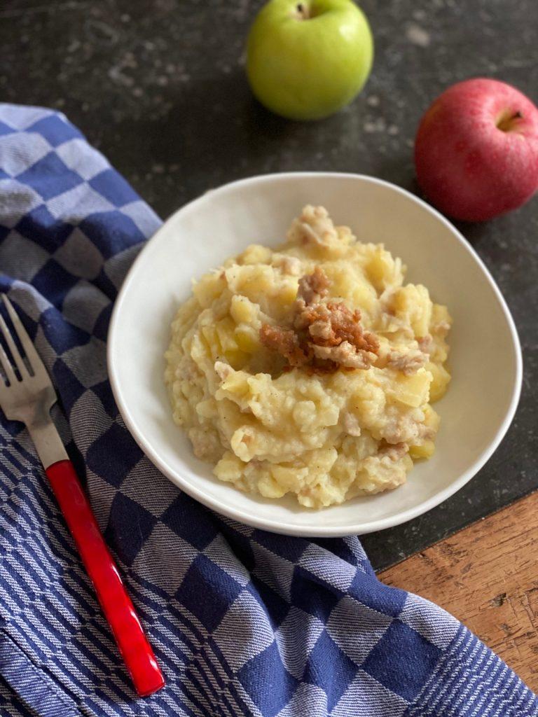Hete Bliksem recept - Stamppot met appel en gekruid kipgehakt - Recept van Foodblog Foodinista