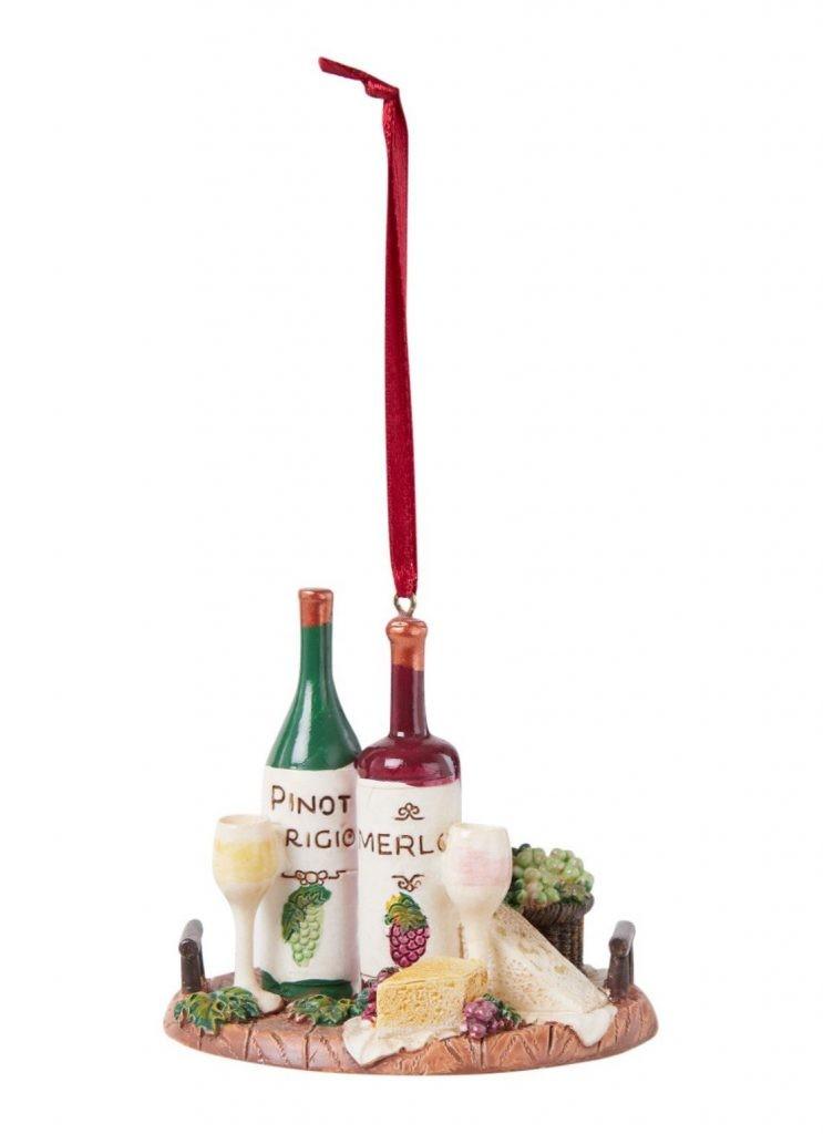 Kerstboomhanger Kaasplankje en wijn voor foodies kerstboom - kerst ideeën van Foodinista
