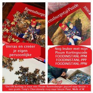 Ravensburger Fotopuzzel van Pixum met kortingscode van Foodinista