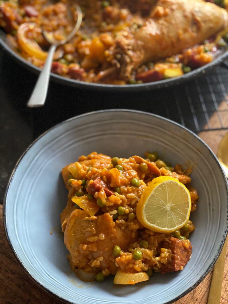 Zelf Paella maken - Paella met konijn, kip en Iberico worst - Recept van Foodblog Foodinista