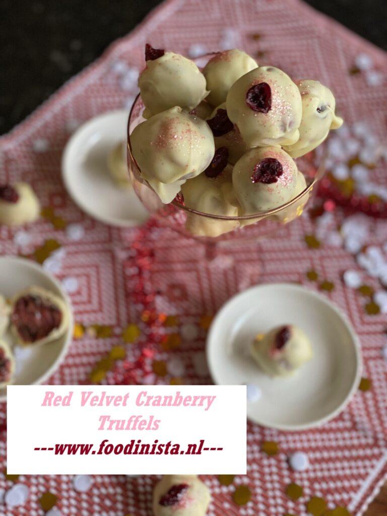 Red Velvet truffels met cranberry - Simpel en leuk om te maken!