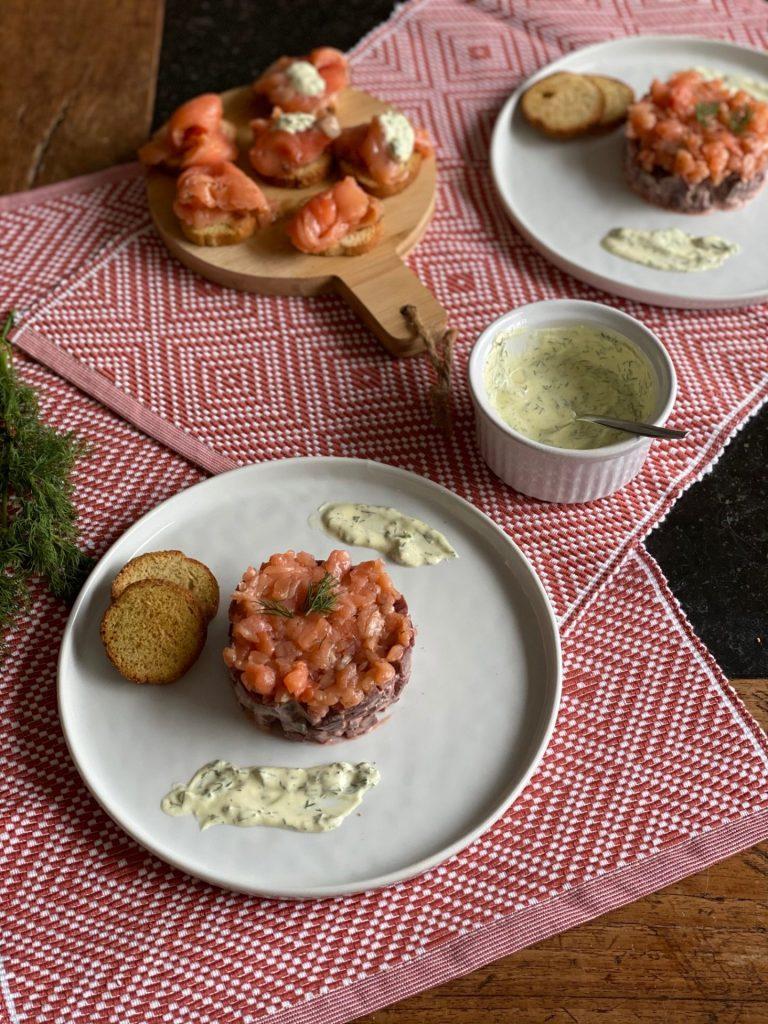 Feestdagen recept - Fris torentje met bietjes en gravad lax - Recept van Foodblog Foodinista