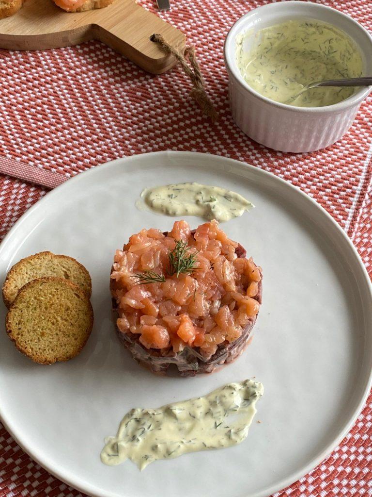 Recept met gravad lax - Fris torentje met bietjes en gravad lax - Recept van Foodblog Foodinista