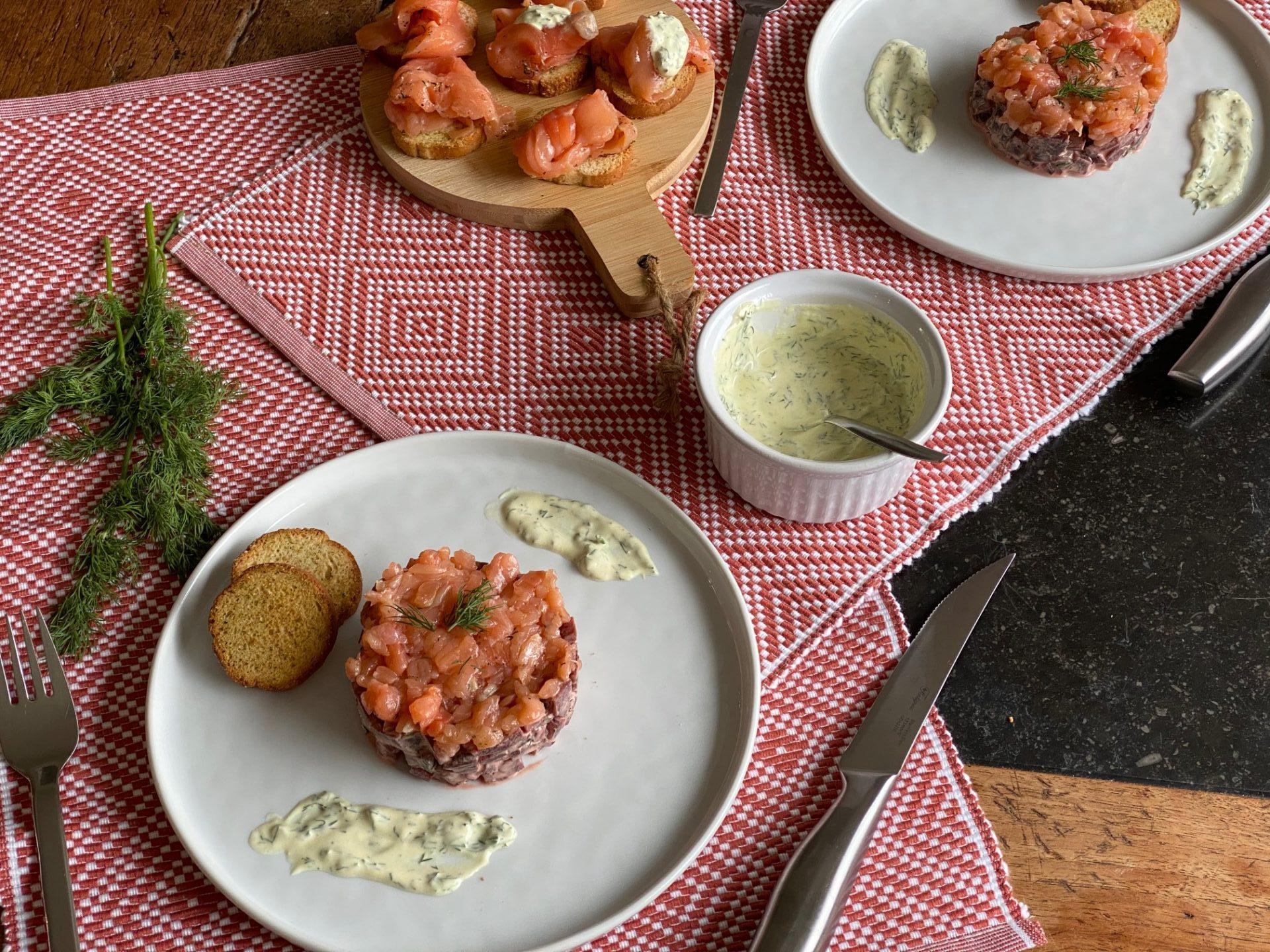 Fris torentje met bietjes en gravad lax - Recept van Foodblog Foodinista