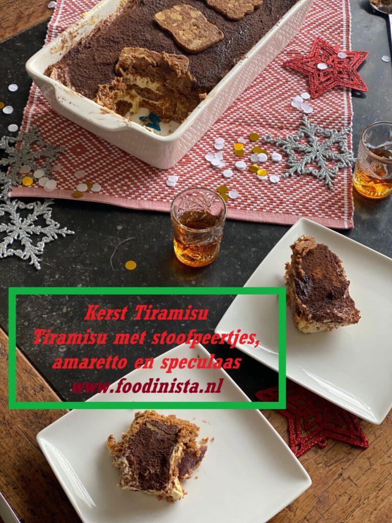 Kerst Tiramisu met speculaas en stoofpeertjes