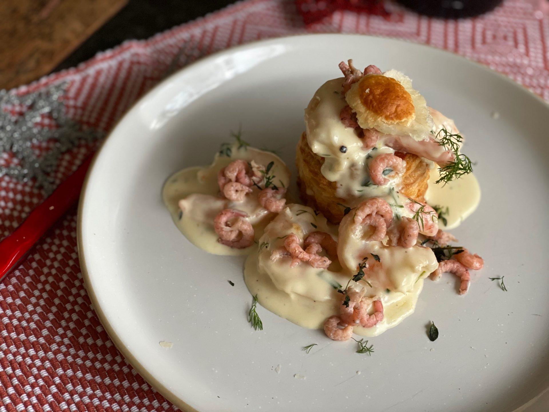 Ragout met gamba's en Hollandse garnalen in romige champagnesaus - Recept van Foodblog Foodinista