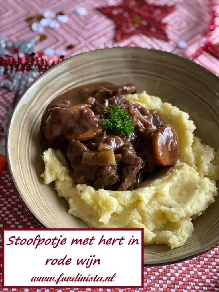 Hert in Port bereid met aardappelpuree - Foodblog Foodinista