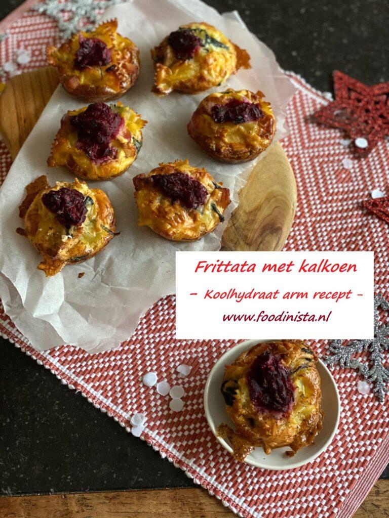 Mini frittata met kalkoen voor de kerstbrunch - Recept tip van Gratis Happy Weight programma