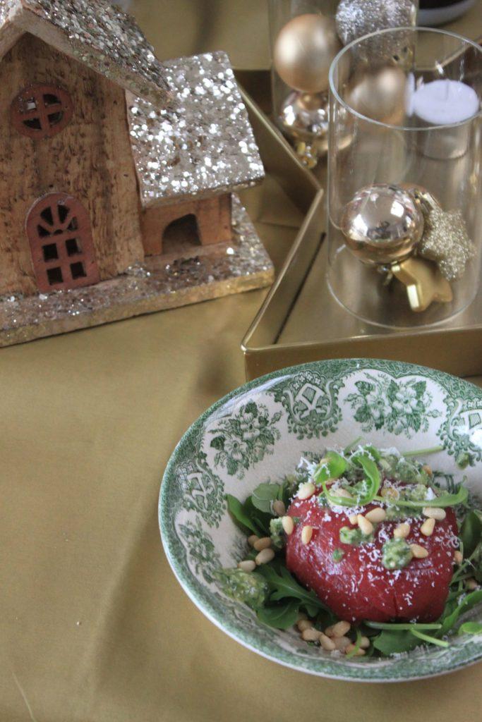 Carpaccio met truffel en pesto vulling - carpaccio recept foodblog Foodinista
