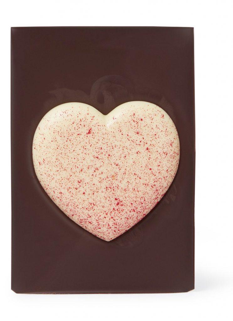 Pure chocolade met Valentijnshart - Chocoladecadeautjes voor Valentijnsdag