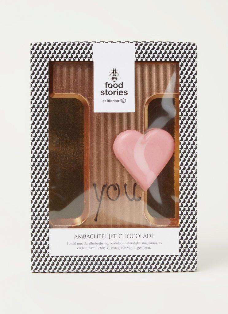 I love You chocoladeletters - Valentijnsdag chocoladeletter Valentijnsdag Cadeau tips van Foodinista