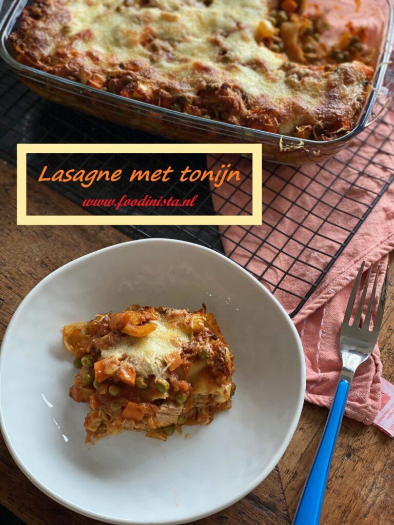 Lasagne met tonijn en groente - Lekker en simpel lasagne recept - Foodblog Foodinista