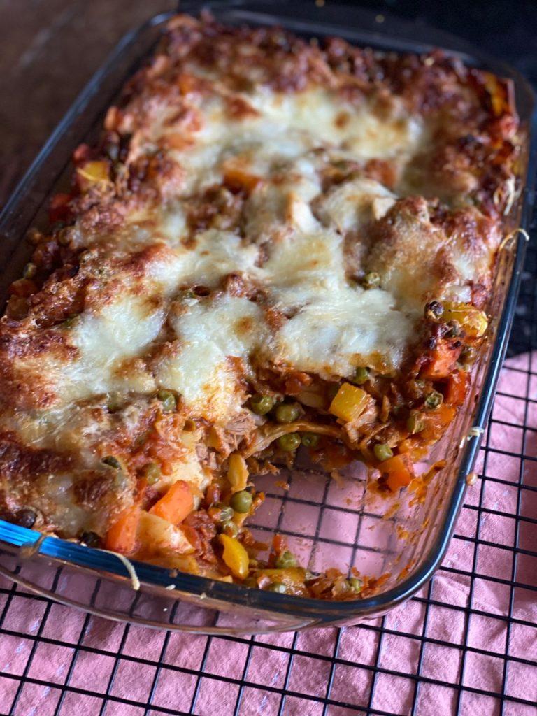 Lasagne met tonijn en groente - Pasta ovenschotel recept van Foodblog Foodinista