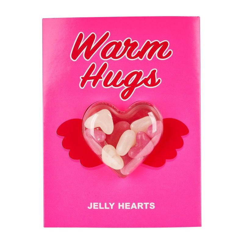 Kaartje met snoepjes voor Valentijnsdag - Valentijnsdag cadeautjes tips van Foodinista