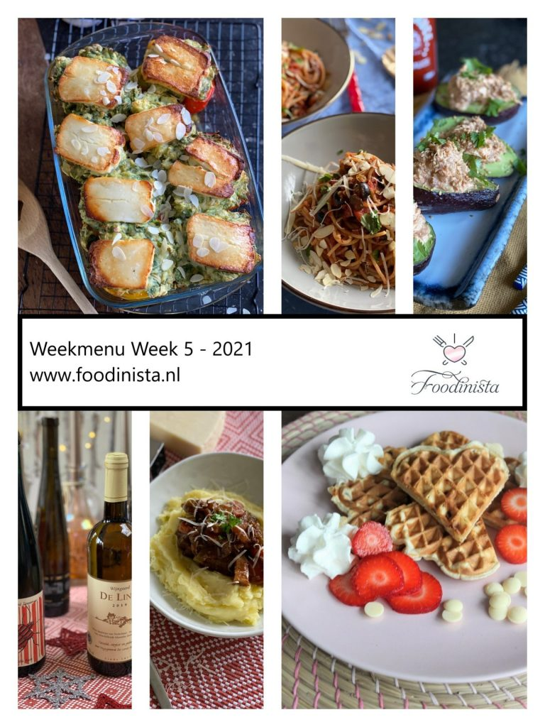Foodblog Foodinista weekmenu – Wat eten we deze week? – Weekmenu Week 5 Winter 2021 - Foodblog Foodinista