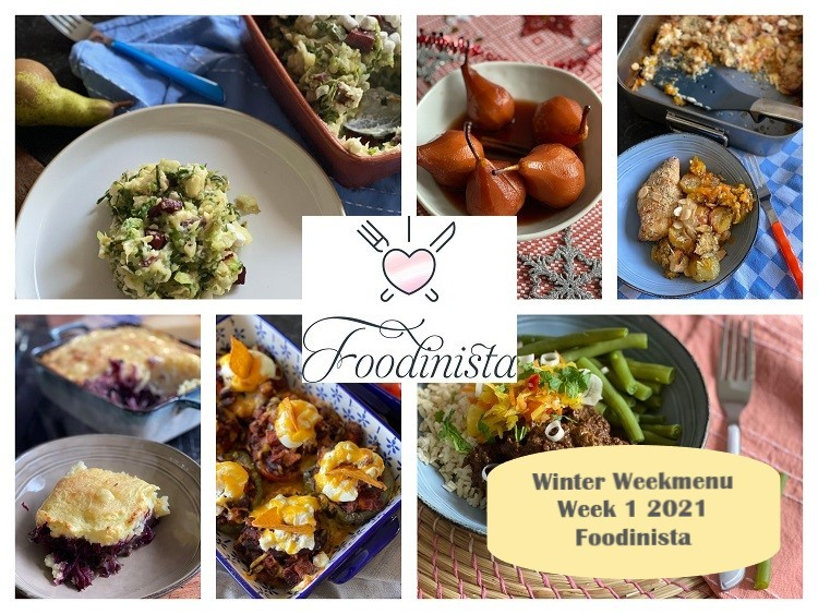 Foodblog Foodinista weekmenu - Wat eten we deze week? – Weekmenu Week 1 Winter 2021