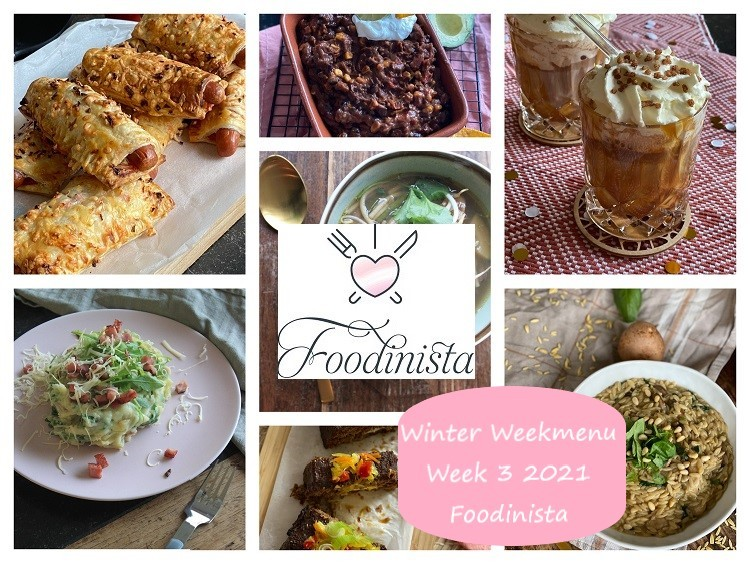 Foodblog Foodinista weekmenu – Wat eten we deze week? – Weekmenu Week 3 Winter 2021
