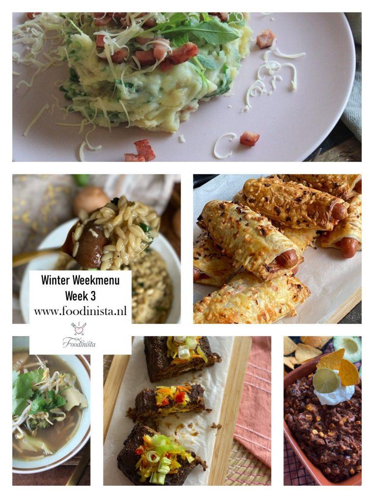 Foodblog Foodinista weekmenu – Wat eten we deze week? – Weekmenu Week 3 Winter 2021