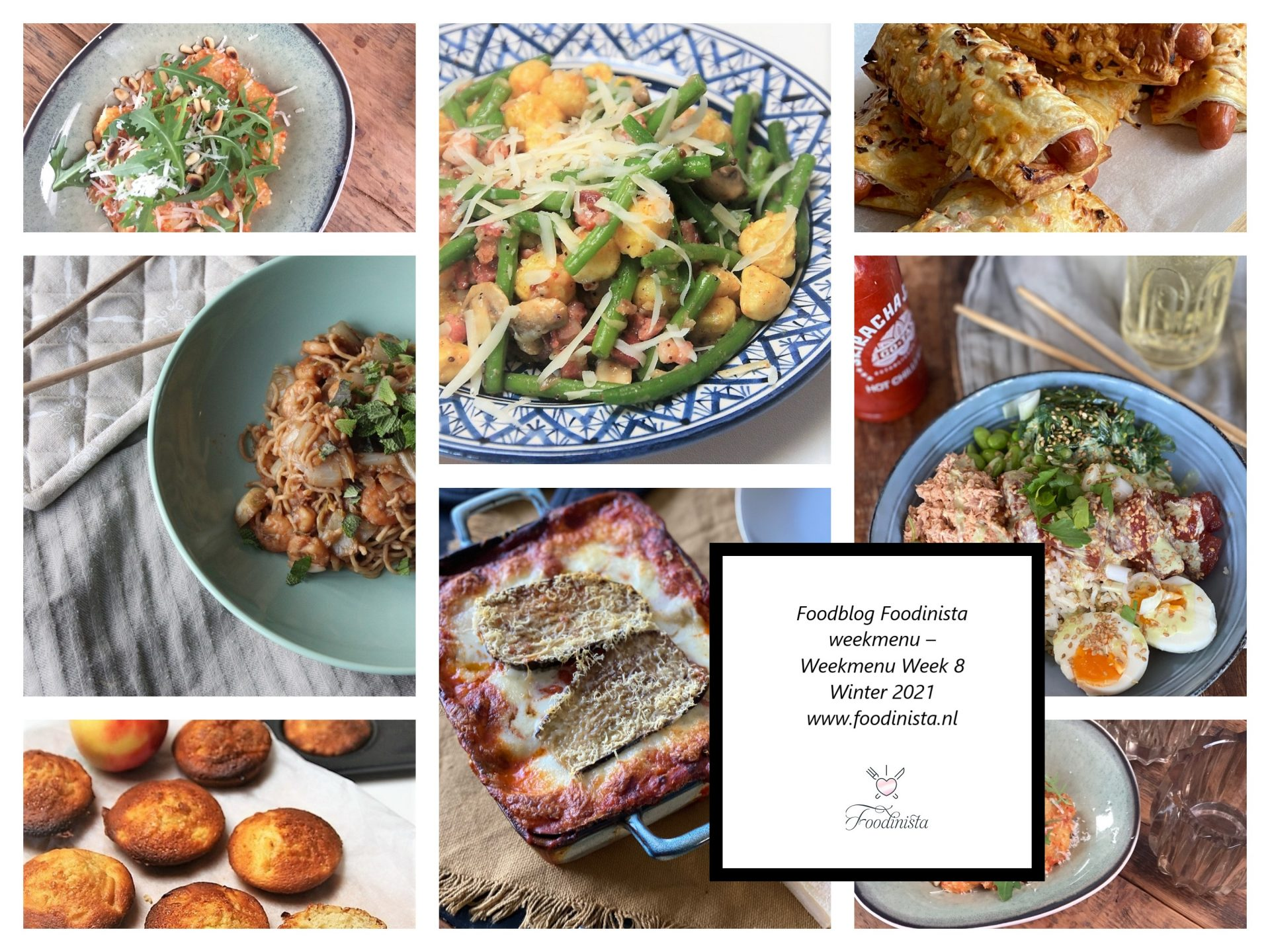 Foodblog Foodinista weekmenu – Wat eten we deze week? – Weekmenu Week 8 Winter 2021