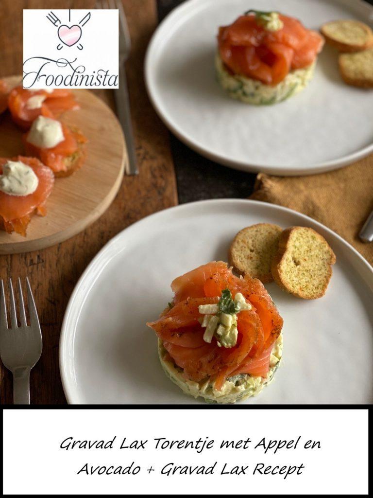 Gravad Lax Torentje met appel en Avocado - Recept van Foodblog Foodinista