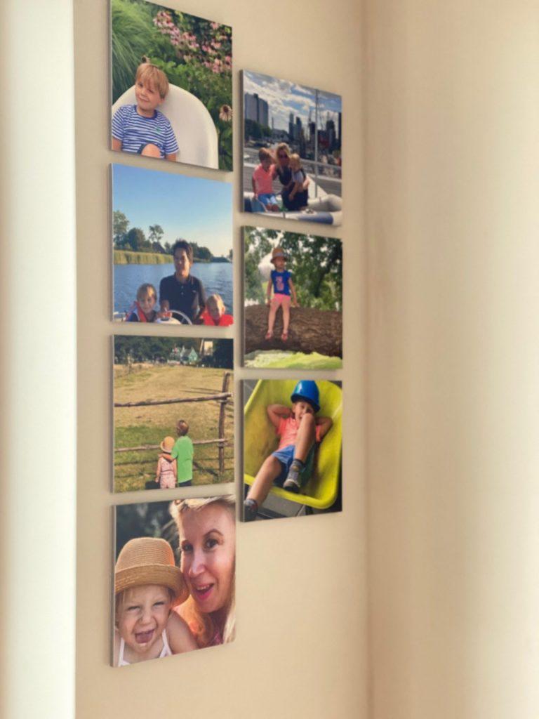 Foto wall met foto's met magneetstrip - Tips voor in huis met foto's