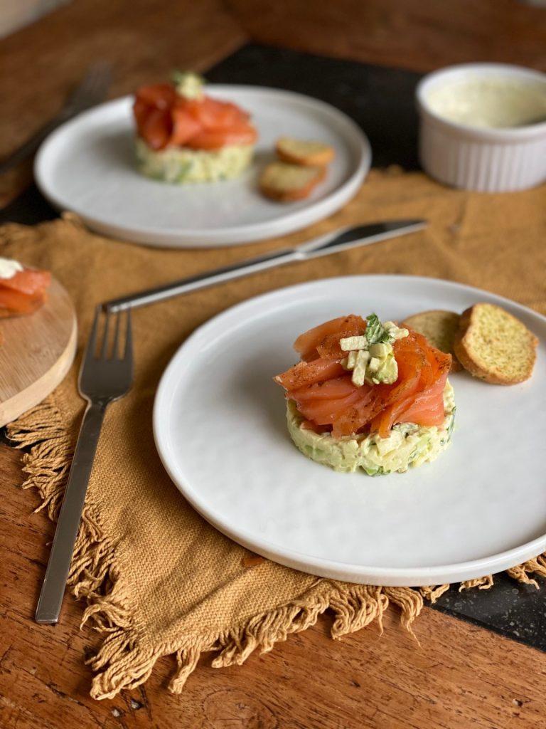 Gravad Lax torentje met frisse appel en avocado - Koken met zalm Foodblog Foodinista