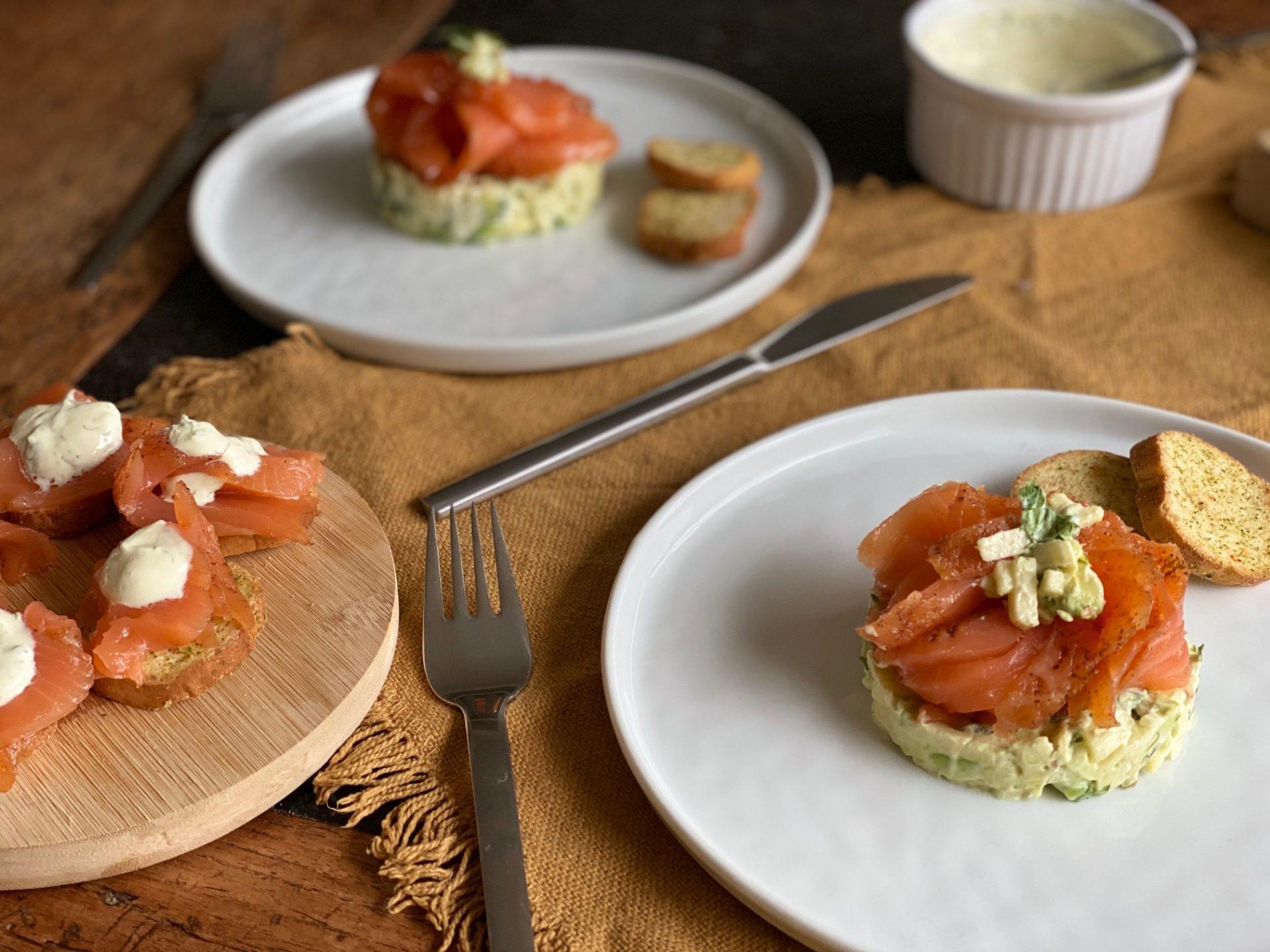 Gravad Lax torentje met frisse appel en avocado - Visrecepten van Foodblog Foodinista