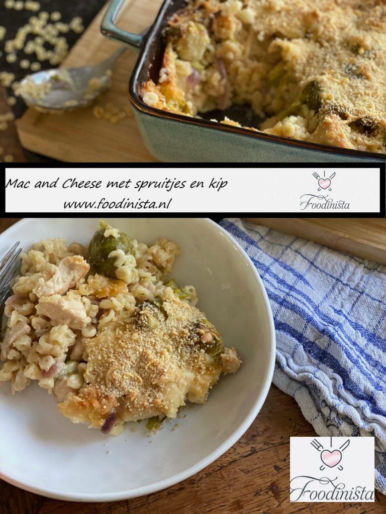 Mac and cheese met kip en spruitjes recept van Foodblog Foodinista
