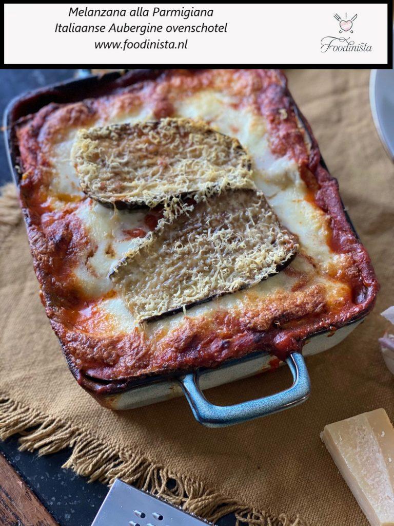 Melanzana Parmigiana - italiaanse aubergine ovenschotel - recept van Foodblog Foodinista