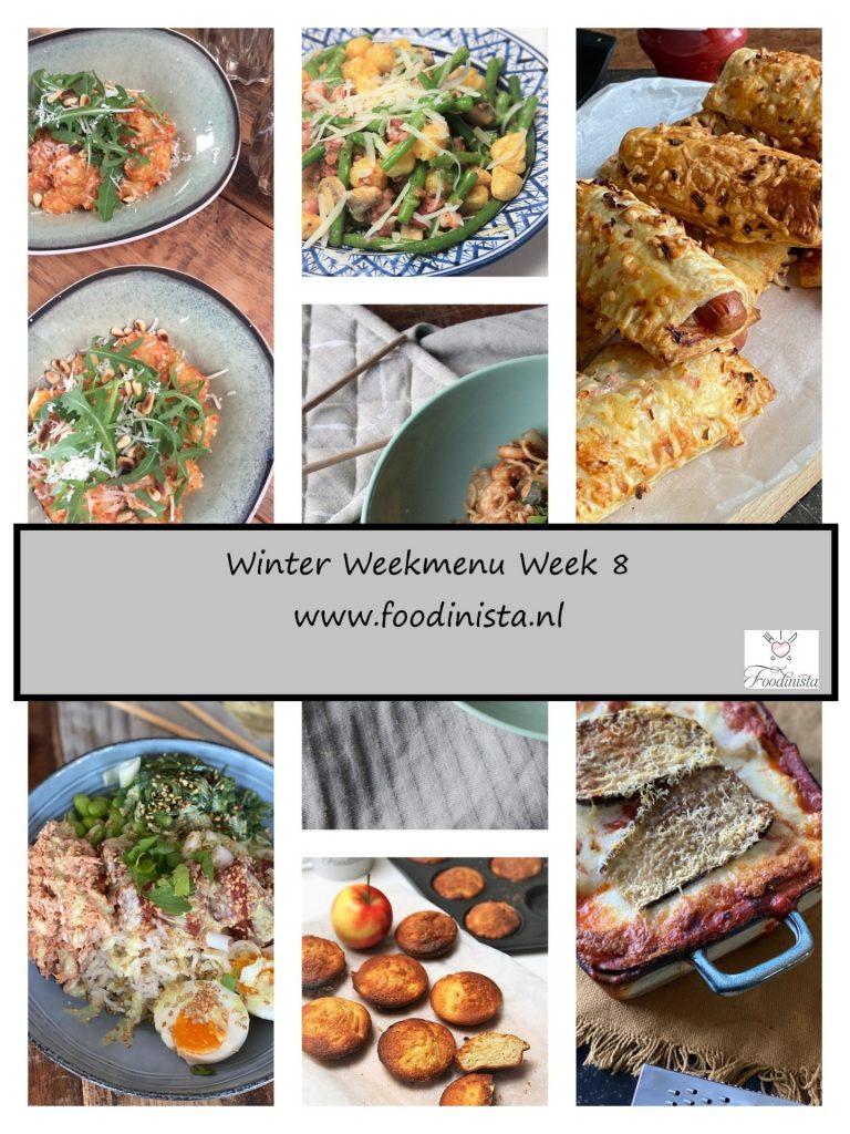 Foodblog Foodinista weekmenu – Wat eten we deze week? – Weekmenu Week 8 Winter 2021