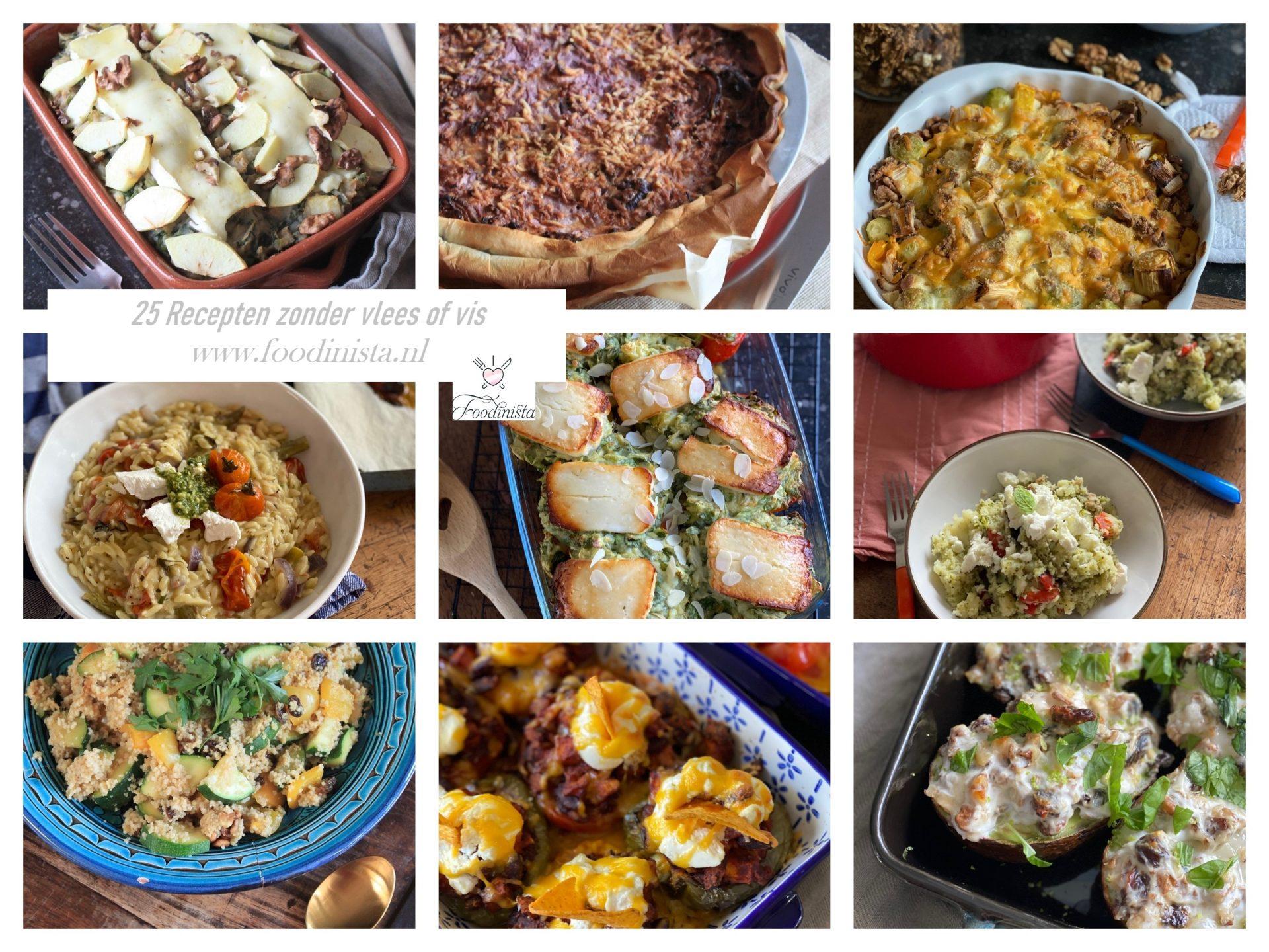 25 Recept ideeën voor de Week zonder vlees - Leuke Vegetarische recepten - Foodblog Foodinista